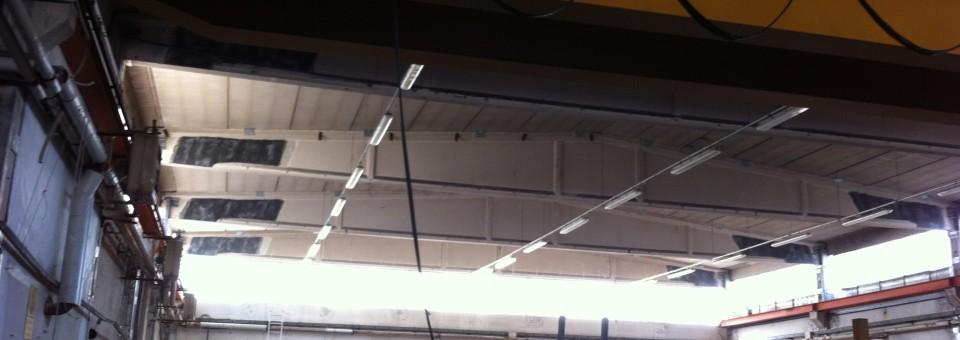 Adeguamento sismico su pilastri e travi in c.a. Edificio industriale U.C.M.-UNIECO Rio Saliceto
